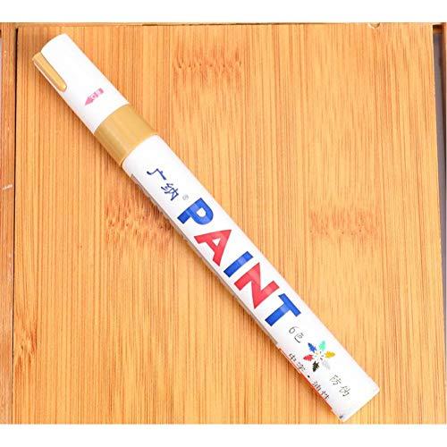 KJFUN 12 Farben Wasserdichter Autoreifen Cd Metall Permanent Paint Marker Graffti Oily Pen Briefpapierzubehör
