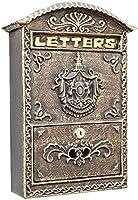 ウォールマウントロック可能なメールボックスセキュリティロックボックスウォールマウントポストボックスセキュアメールボックスレターボックス屋外レトロヴィンテージメールボックスレターボックス小包ボックスドロップボックス