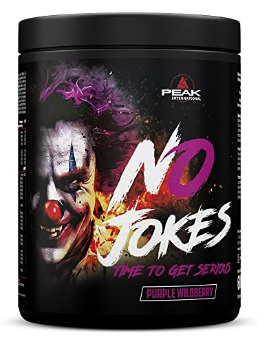 Peak International No Jokes Pre Workout Booster, 600 g Dose (Purple Wildberry)