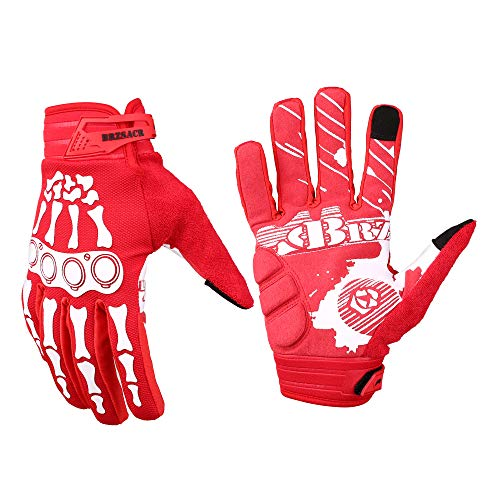 BRZSACR Cycling Gloves MTB Full Finger Mountain Bike Gloves...