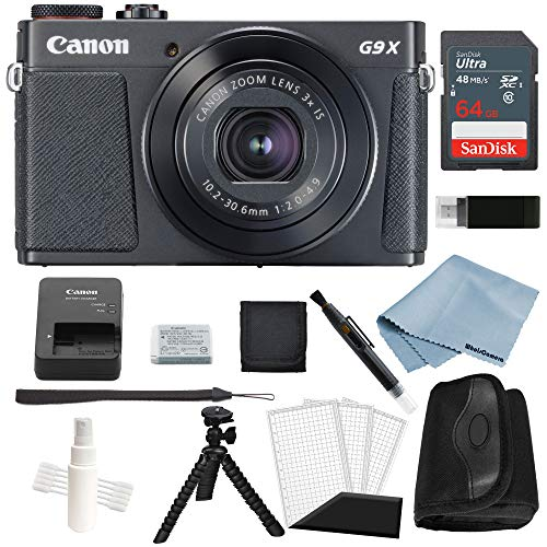 Canon G9x Mark II Digital Camera Bundle (Black) + Deluxe Accessory Kit