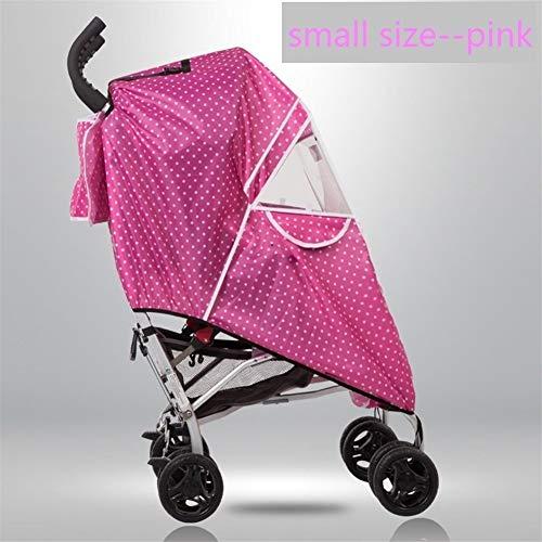 Mrjg Poussette Raincoat Couverture Chariot Parapluie Pluie Voiture Couverture Poussette de bébé Pare-Brise Accessoires for Poussette (Color : Small Size Pink)