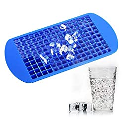 Image: TraderPlus 160 Mini Cubes | Silicone Frozen Ice Cube Tray | Candy Chocolate Jelly Mold | 100% BPA Free food grade silicone