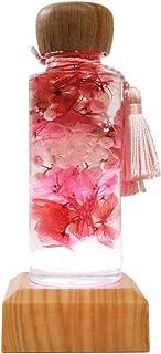 [フェリナス]【光るレインボーコースター&開運ハーバリウム】 パワーストーン入り(ローズクオーツ) ピンク:恋愛運 LTD台座(ライトステージ) 敬老の日 ps-pink-ltd