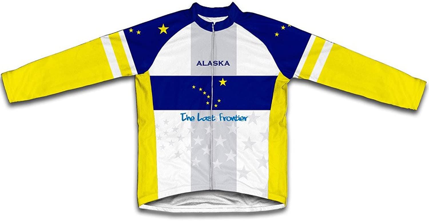 Alaska Flag Winter Thermal Cycling Jersey for Women