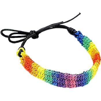 au Choix Coloré Arc-En-Ciel Bracelet Gay Pride Festival Amitié Lesbienne