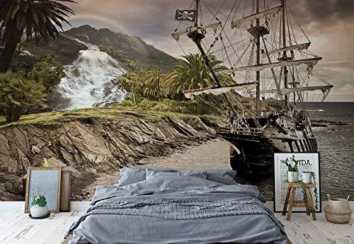 Wallsticker Warehouse Altes Segelschiff Fototapete Fotomural - Wandbild - Tapete - 254cm x 184cm / 2 Teilig - Gedrückt auf 115gsm Muralpapier - 2050P4 - Autos & Transport