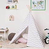 boppi Grande Tente de Jeu tipi en Toile Tente Indienne Portable en Bois pour Enfants,...