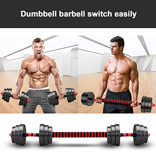 CANMALCHI Dumbbell weights set 30KG, Barbell Set With Connecting Rod,Adjustable Lifting Training Set for Workout Traning, Perfect for Man and Women Bodybuilding