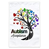 Graphics and More Autism Acceptance Tree of Life with Hearts Garden Yard Flag (Pole Not Included)