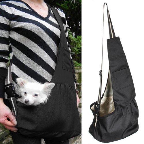 RUNFON bolsa de transporte para perro. Bolsa de transporte bandolera para gato. Bolsa bandolera de transporte para gato, cachorro, animales de compañía - L