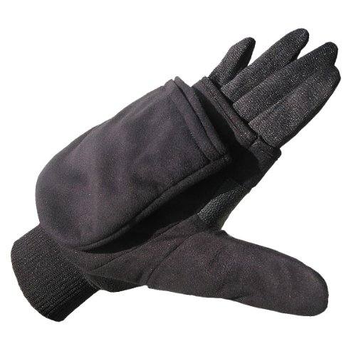 Heat Factory Gloves with Pop-Top Mittens, with Hand Heat Warmer Pockets
