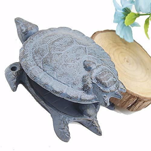 SSZY Türklopfer Haustür Antiker Blauer Turtle Türklopfer, Kleine Neuheit Klassische Gusseisentürklopfer, für Außen- Scheunentüren Gartentür Holz- Schuppentüren