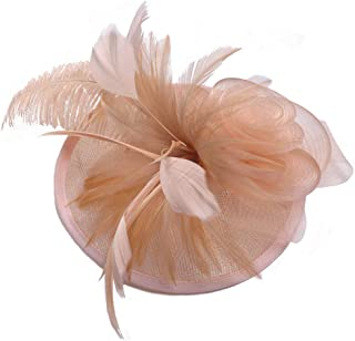 AS ROSE RICH Flower Derby Hats Fascinator Sinamay Hat Cocktail Party Headwear Girls and Women for MelbourneCup