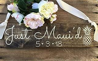 Destination Wedding Wood Sign Just Mauid W50