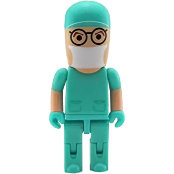 Memoria USB Aneew 32 GB Pendrive rosa enfermera mujer hospital robot doctor doctor USB Flash Drive Memory Stick U Disk Doctor Verde 32 gb