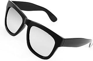 uxcell サングラス ファッション小物 眼鏡 ブラック?フル?フレーム シルバートーン?レンズ レディース