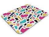 Deco Prime - Alfombrilla Raton, PC, Antideslizante, Impermeable, Mosaico (Multicolor, Medium)