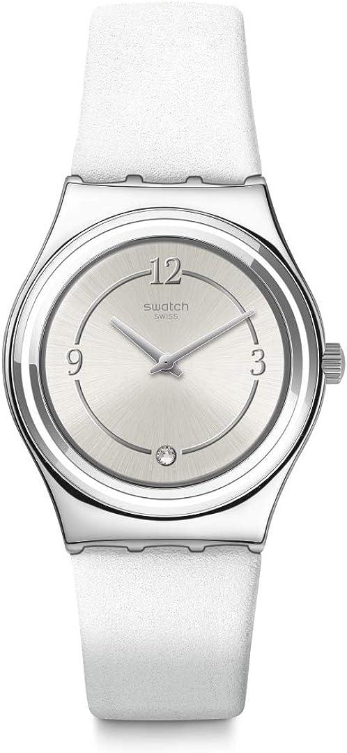 ブランド買うならブランドオフ 爆安プライス Swatch Core Refresh Stainless Steel Leather Strap Swiss Quartz