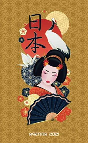 Agenda 2021 : Geisha Giappone - Animo: Agenda settimanale 2021 | Piccolo formato (10x16,5 cm) | Da notare tutti gli appuntamenti da gennaio a dicembre 2021 | 112 pagine | Italiana