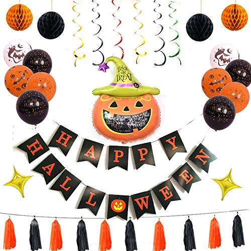 CGY Halloween-balloons banner Spider Bat Pumpkin ghost folie balloon zwart oranje beker latex ballon voor Halloween bar decoratie thuis