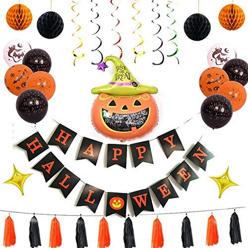 CGY Halloween-balloons banner Spider Bat Pumpkin ghost folie balloon zwart oranje beker latex ballon voor Halloween bar decoratie thuis