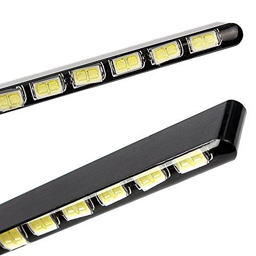 Itimo 2 pcs Bande LED Source de lumière SMD 14 LEDs boîtier en aluminium de voiture Style de voiture DRL lumière