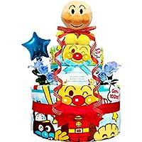 おむつケーキ [ 男の子 / アンパンマン / 2段 ] パンパースS22枚 ( 出産祝い に Sサイズ )2001 ダイパーケーキ 赤ちゃん ベビーシャワー