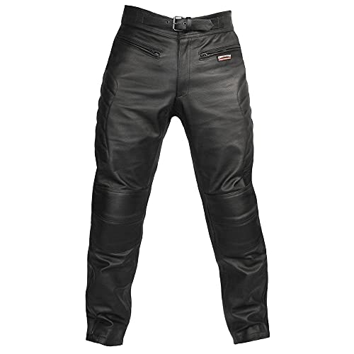 dc5651fde74e7c Skintan CE Armoured Mens Leather Motorcycle Trousers Available in 27