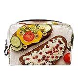 Bolsa de maquillaje compacta Neceser de viaje portátil para bolsas de cosméticos,sándwiches integrales y tazones con micro verduras