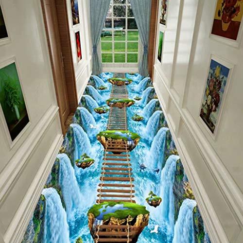 WZJ-CARPET Alfombra Tridimensional emocionante Tridimensional de la Tira del Horror for el Pasillo Pasillo Sala de Estar Dormitorio Mesita de Noche, Polvo antiincrustante, Reduce el Ruido