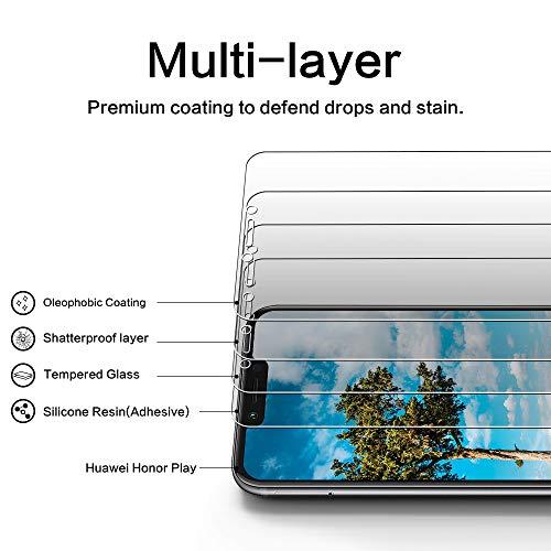 DOSNTO [2 Stück Panzerglas Schutzfolie für Huawei Honor Play, 9H Härte, Anti-Kratzer, Anti-Öl, Anti-Bläschen, Anti-Fingerprint Displayschutzfolie Panzerglasfolie - 2