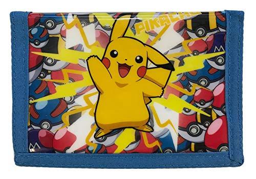 Pokemon Pikachu Pokeball Münze & Karte dreifach gefaltet