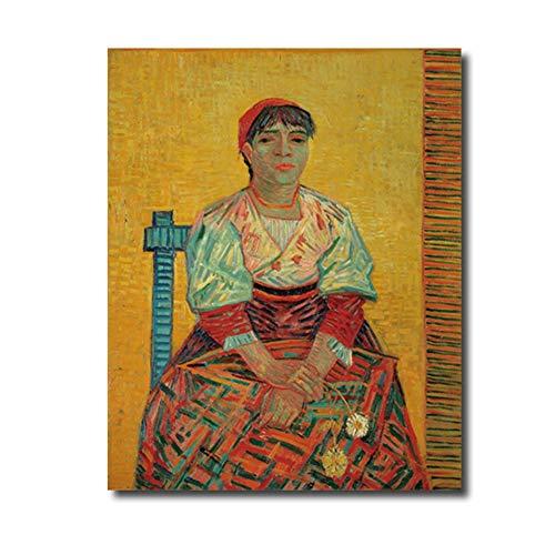 sjkkad De Italian van Vincent van Gogh Poster druk canvas schilderij kalligrafie wooncultuur muurkunst schilderijen voor de woonkamer - 50x70 cm geen lijst