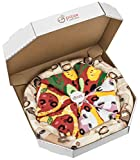 Rainbow Socks - Damen Herren Pizza Socken Box Mix Capricciosa Pepperoni Vegetarische - 4 Paar - Größen 36-40