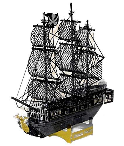 r_planning 立体 メタル ブラックパール 塗装済 海賊船 組立 模型 ディスプレイ インテリア