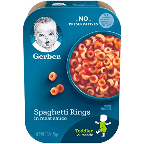 Gerber Graduates Lil' Meals, Spaghetti Rings in Meat Sauce, 6 Ounce (Pack of 6) (packaging may vary)