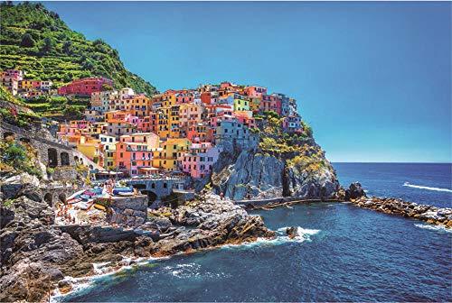 N/R Puzzels 1500 Stukken Voor Volwassenen,Italiaanse Cinque Terre Klassieke Puzzel Speelgoed Cadeau Geef Kinderen Geweldige Educatieve Geschenken 52x38Cm