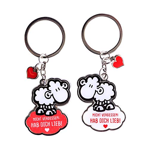 Sheepworld 46177 Paar-Schlüsselanhänger WOLKE