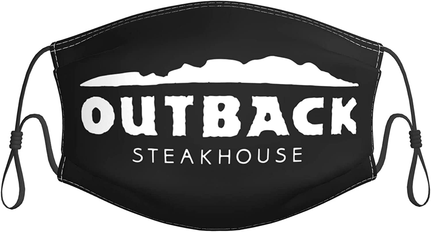 Outback Steakhouse Face Mask with Filter Mouth Cover Bandana Seamless Balaclava