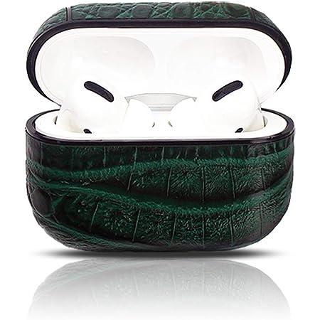 Alligator green leather AirPod pro case