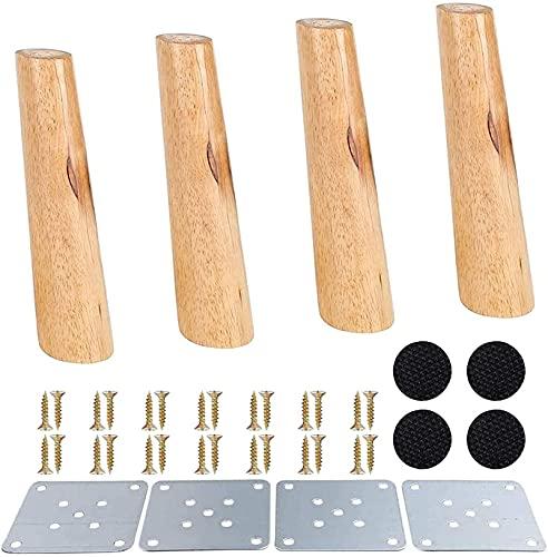FTYYSWL Patas de madera para muebles – patas de mesa de centro – patas rectas para muebles, patas de gabinete de sofá, patas de repuesto para muebles