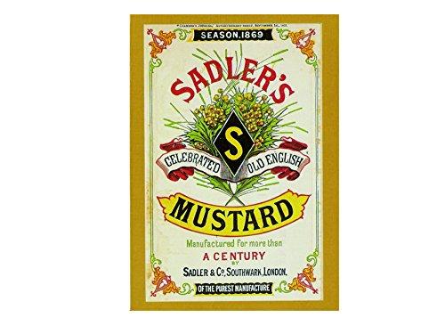 Seizoen 1869 sadler's mosterd gevierde oude Engels retro shabby chic vintage stijl foto metalen muur plaque teken koelkast magneet