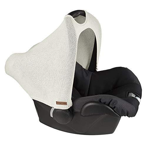 BO Baby\'s Only - Maxi-Cosi Verdeck 0+ aus Baumwolle - 46x51x41 cm - für Jungen und Mädchen - Wollweiß