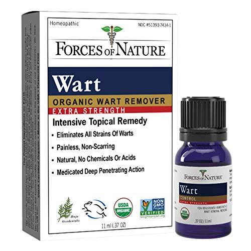 Forces Of Nature -Natural, Organic Wart Remover (11ml) Non Gmo, No Chemicals - Common, Plantar, Flat, Filiform, Periungual and body warts