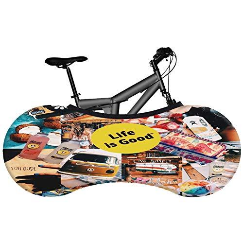 SFGSA Funda Bicicleta Exterior Impermeable Cubierta de Polvo Interior Tela elástica, Protege el Piso Impermeable y Ligero, Elegante Accesorio,Style 8