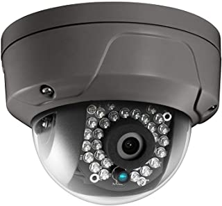 4MP PoE Security IP Camera - Compatible with Hikvision DS-2CD2142FWD-I Grey Color Housing Mini Dome EXIR Night Vision 2.8m...
