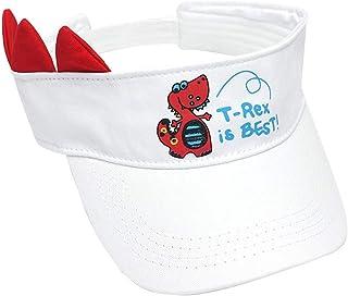 Jaune, bleu, rose, blanc, rouge 52-54 CM enfants chapeau de soleil de bande dessin/ée dinosaure alphabet casquette de baseball section mince casquette chapeau vilain mignon