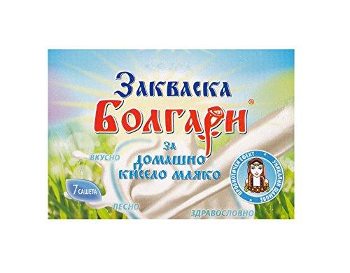 Cultivo de yogur'BOLGARI' – Paquete de 7 bolsitas de cultivo liofilizado para preparar yogur casero