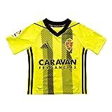 adidas Real Zaragoza Segunda Equipación 2019-2020 Niño, Camiseta, Semi Solar Yellow-Black, Talla 164